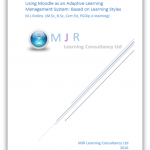 Adaptive Learning using a Moodle Learning Management System