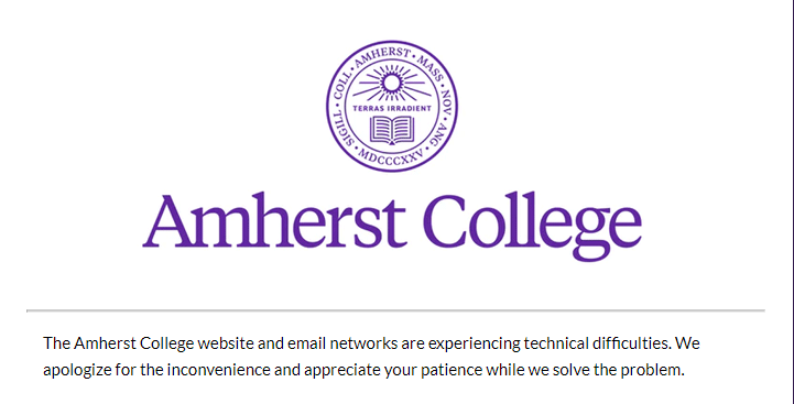 Internet Outage at Amherst College Leaves Students Incredulous