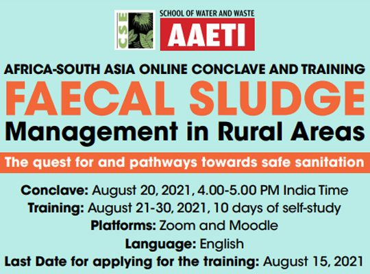 Africa-South Asia Online Conclave and Training: Faecal Sludge Management in Rural Areas